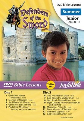 Defenders of the Sword Junior (Grades 5-6) Bible Lesson DVD  -