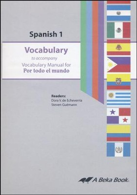 Abeka Por todo el mundo Spanish Year 1 Vocabulary Audio CD   -