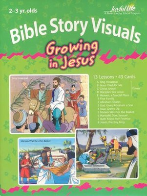Growing in Jesus (ages 2 & 3) Extra Bible Story Lesson Guide  -