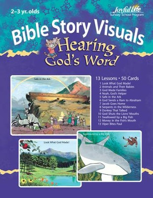 Extra Hearing God's Word (Ages 2 & 3) Bible Story Lesson Guide  -