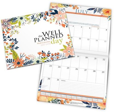 The Well-Planned Day Wall Calendar (July 2017 - June 2018)  -     By: Rebecca Farris