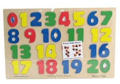Numbers 0-20 Wooden Puzzle   -     By: Melissa & Doug