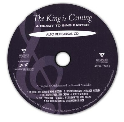 The King Is Coming (Alto Rehearsal Track CD)   -