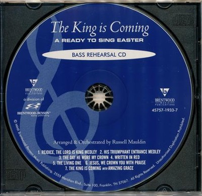 The King Is Coming (Bass Rehearsal Track CD)   -