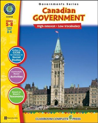 Canadian Government Grades 5-8  -     By: Brenda Rollins