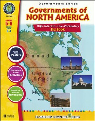 Governments of North America Big Book Grades 5-8  -     By: Brenda Rollins