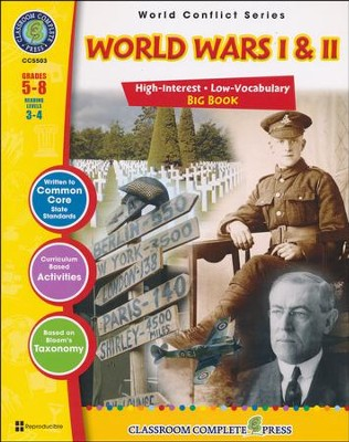World Wars I & II Big Book Grades 5-8  -     By: Deborah Thompson