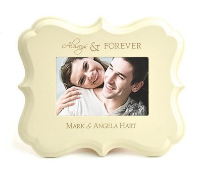 Personalized, Always and Forever, Photo Frame, White   -