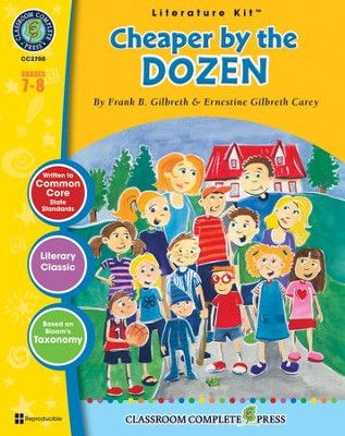 Cheaper by the Dozen (Frank B. Gilbreth) Literature Kit  -     By: Nat Reed