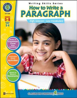 How to Write a Paragraph, Grades 5-8   -     By: Brenda Vance Rollins
