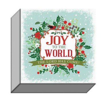 Joy to the World, Canvas Plaque  -