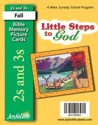 Little Steps to God (ages 2 & 3) Mini Bible Memory Picture Cards  -
