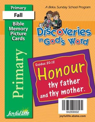 Discoveries in God's Word Primary (Grades 1-2) Mini Memory Verse Cards  -