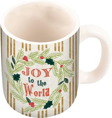 Joy To The World Wreath Mug  -