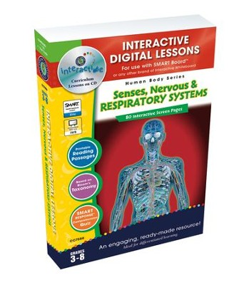 Senses, Nervous & Respiratory Systems Interactive Digital Lessons on CD-ROM Grades 3-8  -     By: Susan Lang
