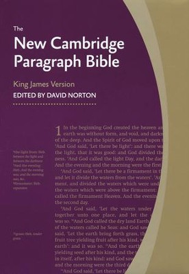 New Cambridge Paragraph Bible, Personal Size, Hardcover, blue  -     Edited By: David Norton     By: David Norton