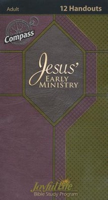 Jesus' Early Ministry Y2 - Adult Bible Study Weekly Compass  Handouts  -
