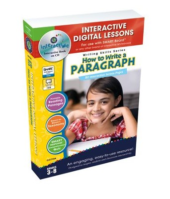 How to Write a Paragraph Interactive Digital Lessons on CD-ROM Grades 3-8  -     By: Brenda Rollins
