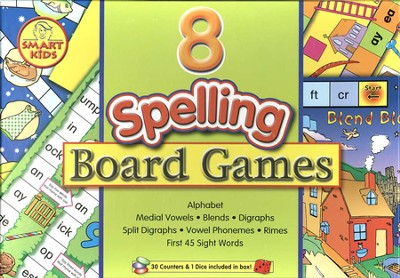 Eight Spelling Board Games, Level 1 (Grades 1 to 3)   -