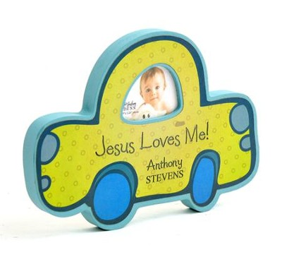Personalized, Jesus Loves Me, Photo Frame, Car   -