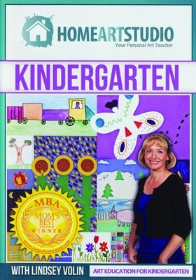 Home Art Studio on DVD & DVD-ROM: Kindergarten   -     By: Lindsey Volin