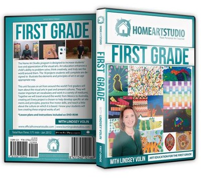 Home Art Studio on DVD & DVD-ROM: 1st Grade   -     By: Lindsey Volin