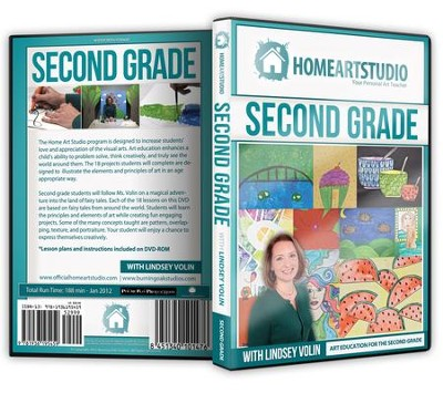 Home Art Studio on DVD & DVD-ROM: 2nd Grade   -     By: Lindsey Volin