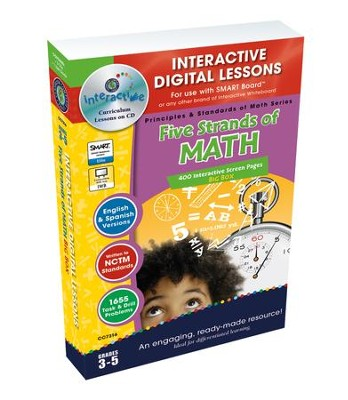 Five Strands of Math Big Box Interactive Digital Lessons on CD-ROM Grades 3-5  -     By: Tanya Cook, Chris Forest, Nat Reed
