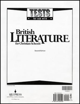 BJU British Literture Grade 12 Tests    -