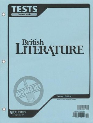 BJU British Literature Tests Answer Key, Grade 12    -