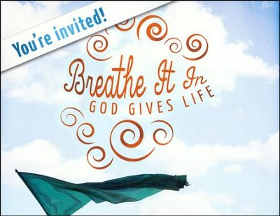 Breathe It In: God Gives Life VBS, Invitation Poster  -