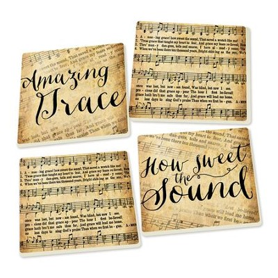 Hymns Coasters, Pack of 4  -