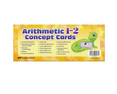 Abeka Arithmetic 1-2 Concept Cards (New Edition)   -