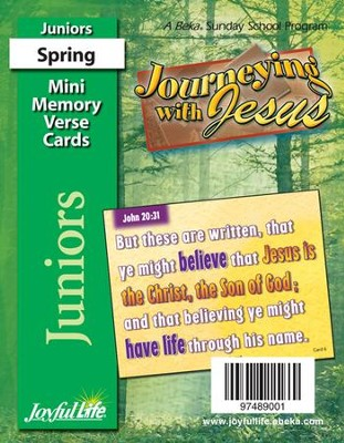 Journeying with Jesus Junior (Grades 5-6) Mini Memory Verse Cards  -