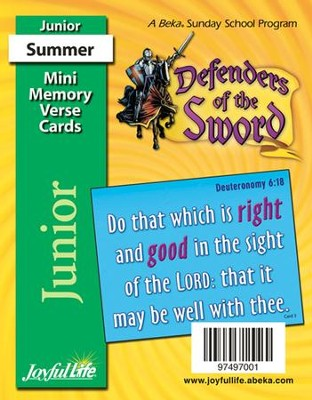 Defenders of the Sword Junior (Grades 5-6) Mini Memory Verse Cards  -