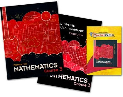 Prentice Hall Middle School Math 8th Grade Course 3 Homeschool Bundle  -