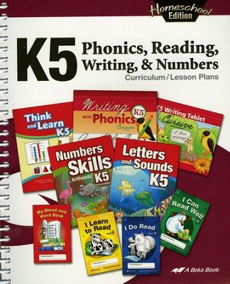 Abeka Homeschool K5 Phonics, Reading, Writing, and Numbers Curriculum/Lesson Plans (Revised)  -