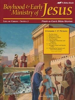 Abeka Boyhood and Early Ministry of Jesus Flash-a-Card Set   -