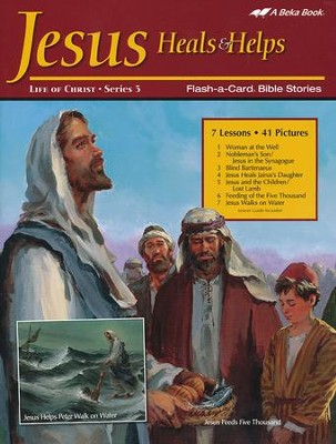 Abeka Jesus Heals and Helps Flash-a-Card Set   -