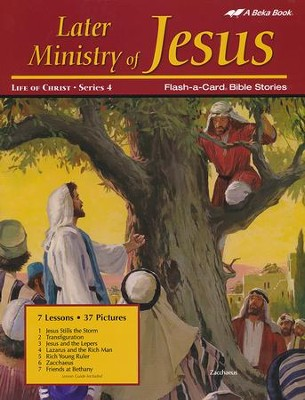 Abeka Later Ministry of Jesus Flash-a-Card Set   -