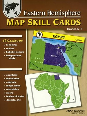 Abeka Eastern Hemisphere Map Skill Cards (Grades 5 to 8)   -