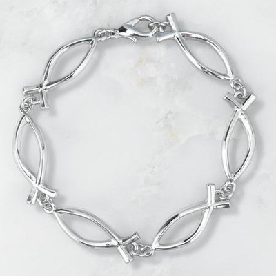 Linked Ichthus Bracelet   -