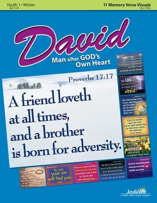 David: A Man after God's Own Heart Youth 1 Memory Verse Visuals (grades 7-9; 2014)  -