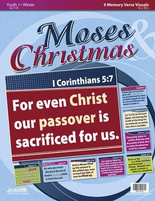 Moses & Christmas Youth 1 (Grades 7-9) Memory Verse Visuals  -
