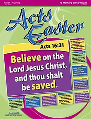 Acts & Easter Youth 1 (Grades 7-9) Memory Verse  Visuals  -