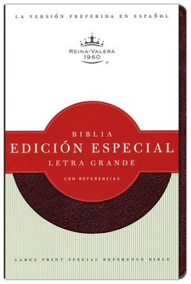 Biblia RVR 1960 Letra Gde. con Ref, Piel Fab. Rojizo  (RVR 1960 Large Print Ref. Bible, Bon. Leather Burgundy)  -     Edited By: B&H Espanol Editorial Staff