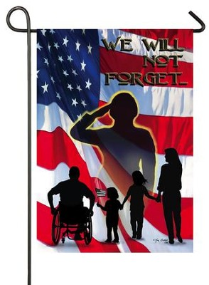Heroes, We Will Not Forget Flag, Small  -     By: Greg & Co