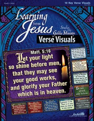 Learning from Jesus: Galilee Ministry, Youth 2 to Adult Bible Study, Key Verse Visuals  -