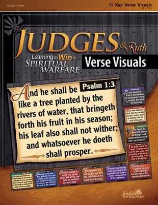 Judges & Ruth: Learning to Win in Spiritual Warfare Youth 2 to Adult Bible Study, Key Verse Visuals  -