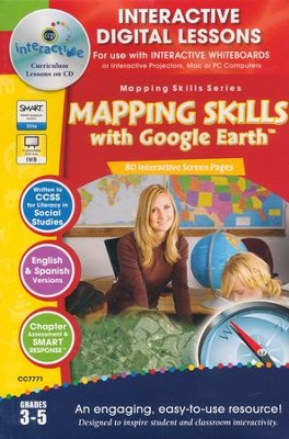 Mapping Skills with Google Earth Interactive Digital Lessons on CD-ROM Grades 3-5  -     By: Paul Bramley